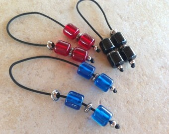 Mini Greek begleri - Greek key - Worry beads - stop smoking - anti stress - resin beads - stainless