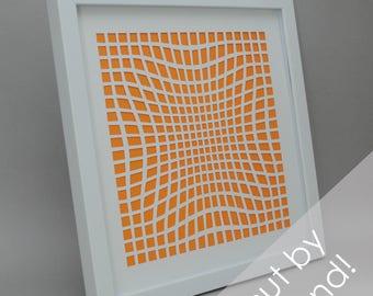 texture & depth - modern PAPER CUTTING - handmade art, unique wall art, details, pattern, choose your own color, design,modern art,white