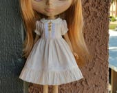 Babydoll dress for blythe - Sweet Almond Cream