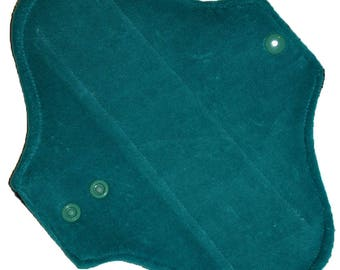 Light Core- Teal Cotton Velour Reusable Cloth Pantyliner Pad- 8.5 Inches