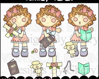 Sunday Sarah Clipart Collection- Immediate Download
