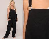 Maternity Overalls Black Overalls Women 90s Grunge Baggy Bib Cotton Suspender Pants Normcore Long 1990s Cargo Vintage Dungarees Large