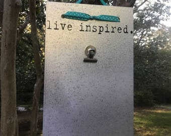 Live Inspired - Positive Vibes - Magnetic Board - Magnet Picture Frame - Dry Erase Board - Magnetic Message Board - Magnetic Memo Board