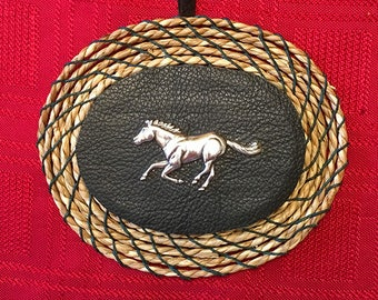Green Horse Concho  Christmas Ornament