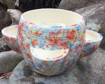 Planter, strawberry pot, succulent pot, cactus planter, Multi color, bright, medium, ceramic, handmade