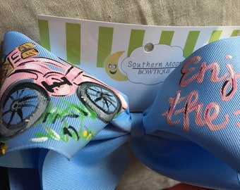 Hand painted Bicycle Bow