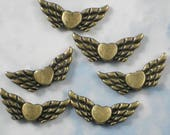 ReSERVE For Angela - 500 Wing Spacers Beads Bronze Tone (P892 -250 / P419 -250)