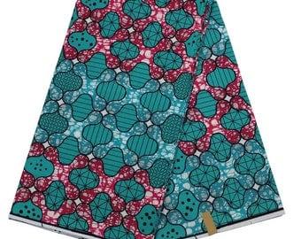 2017 Teal Green Super Wax Hollandais African Hollandais Real Dutch Wax Veritable Wax Hollandais for Patchwork Sewing