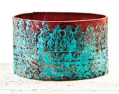 Turquoise Color Leather Jewelry, Turquoise Cuff Bracelet Turquoise Boho Accessories