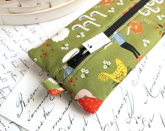 Green Gardening Pencil Case Zipper Bag Green Pencil Case Back to School Students