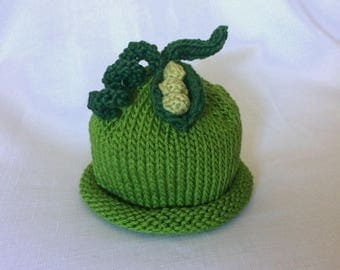 READY TO SHIP Boston Beanies Sweet Pea Cotton Baby Hat