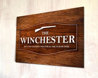 The Winchester Pub Sign Shaun of the dead movie sign A4 metal plaque picture home deco Kitchens