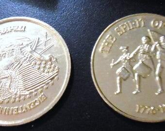 Bicentennial Goldtone Coins 1778- 1976 Commemorative Coins
