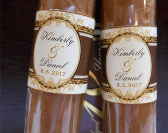 Private Listing for idojermainesuarez Wedding Cigar Bands - Grooms Gift - Wedding Party and Groomsman Cigar Bands - Wedding Reception