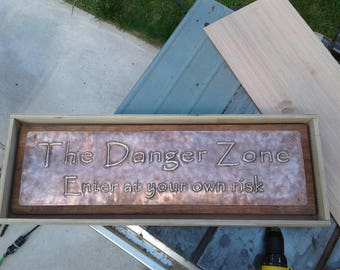 Personalized Hammered Copper Sign