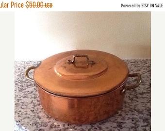 Sale Vintage Copper Dutch Oven