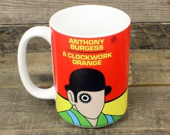 A Clockwork Orange coffee mug Book Gifts under 15 Librarian Gifts for Teachers Tea 15 oz ceramic mug Anthony Burgess kubrick dystopian Alex