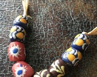 Pairs of African Krobo Bead, African Trade Bead, Ghana Bead, Glass Bead, African Glass Beads, African Beads, Beads
