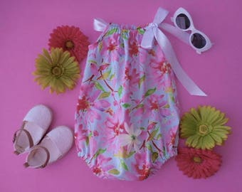 Sunsuit romper playsuit in watercolors for babies and toddlers
