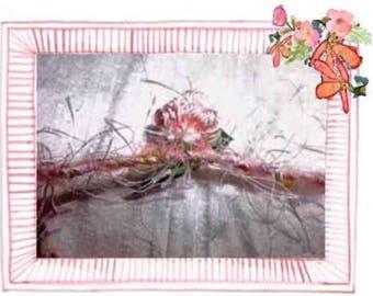 SOLD by the yard...........  Art Yarn Bundles , Handspun Art Yarn,  Corespun, !!