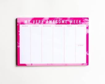 Very Awesome Week - WEEKLY DESKPAD