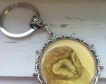 Owl keychain -Wise Old Owl Keychain