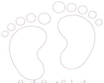 Vintage Baby Feet Machine Embroidery Design