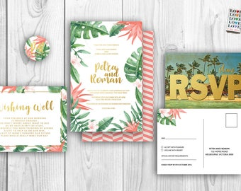 Special listing for April Tropical Thank you Cards