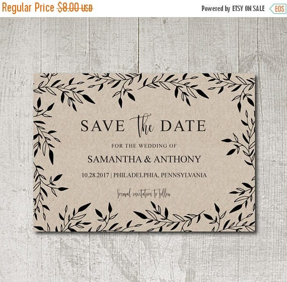 Rustic Save the Date Printable, Save the Date Printable, Save the Date, PDF, DIY Save the Date, Boho Save the Date Printable, Country