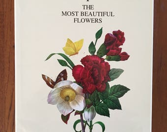 Vintage Pierre Joseph Redoute The Most Beautiful Flowers Coffee Table Book