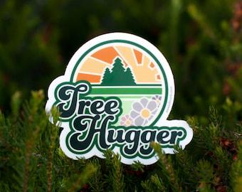 TREE HUGGER Sticker : Tree Lover Sticker, Trees, West Coast Tree, Nature Lover, Hippie Stickers, Save Trees