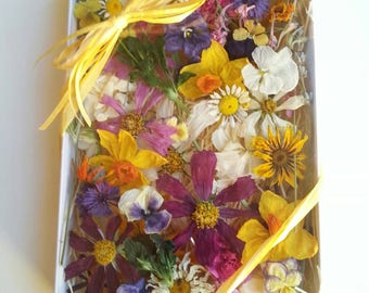 Wedding Confetti, Dry Flowers, Table Decor,  Centerpiece, Lavender,  Wedding Favor, Wildflowers, Flower Girl, Craft Supply, 35 Real Flowers