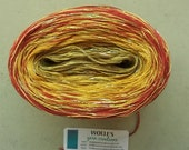 TANDOORI GLITTER -- Color Changing Cotton yarn --  480 yards/100 gr --  Fingering Weight