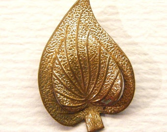 """Vintage Realistic Gold Leaf Button Plant Life Botanical, 7/8"""",  ANIMAL CHARITY Donation"""