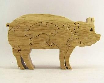 Pig Wood Puzzle