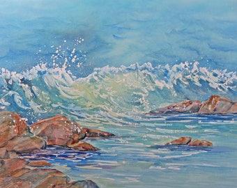 Cape Cod Waves Ocean Rocks