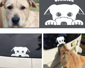 Your Dog as a Decal - Custom car decal - Any dog Breed - Personalized - Vinyl