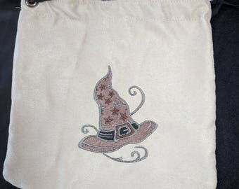 Sorting hat embroidered pouch