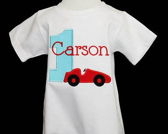 Race Car 1st Birthday Outfit, Race Car Romper, Race Car Birthday Romper, Boy First Birthday Outift, First Birthday Romper, Custom Romper