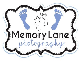 Premade Logo Design, Photography Logo, Logo Template, Memory Crafts, Footprints, Product Logo, Customizable Logo, Graphic Design