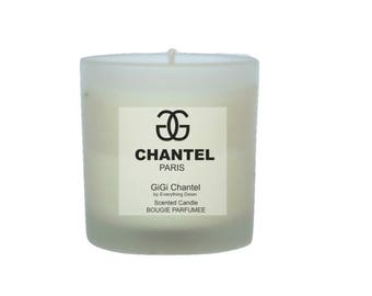 Luxury Scented Candle in Gigi Chantel Fragrance - Luxe Perfumed Candle - Bougie Parfumee