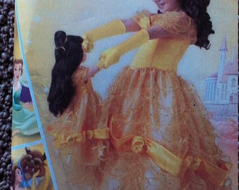 Princess Belle Sewing Pattern Costume Girls Sizes  3-8-Uncut Pattern--Gorgeous -- 40-70% off Patterns n Books SALE
