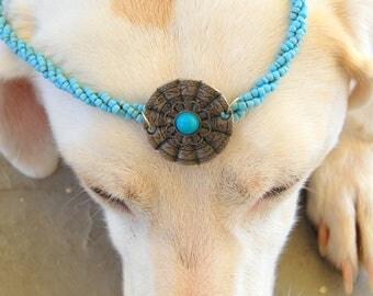 Ethnic Boho Sky Beaded necklace with pendant