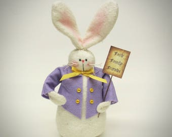 Country bunny decor | Rabbit decoration | Easter home decor | Spring decor | primitive bunny | bunny decor | folk art bunny doll