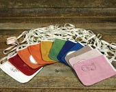 plant dyed hand-embroidered pocket purse: bright colors by kata golda