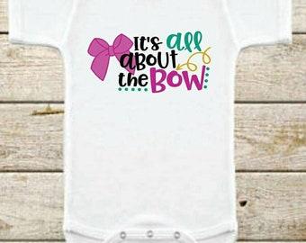 It's All About The Bow Bodysuit, Baby Bodysuit, Bow Bodysuit,