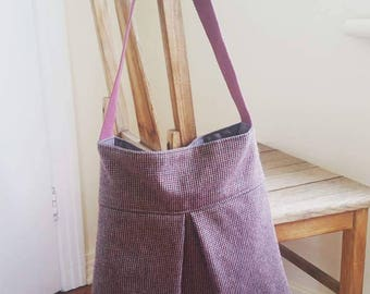 Pleated tote bag - Reclaimed, recycled, upcycled