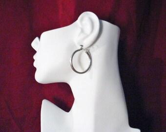 Sterling Silver tube hoop earrings circle design dangle drop chandelier lever post stud womens mens trans fine jewelry