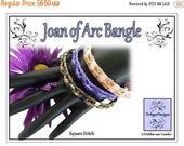 ON SALE Tila Beading Pattern, Tutorial, Bangle - JOAN Of Arc