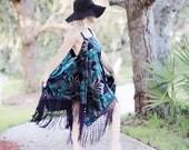 Stevie Nicks Gypsy soul sundress, Piano shawl gypsy spell velvet dress, boho style dress, Fringe gypsy dress, Bohemian True rebel clothing